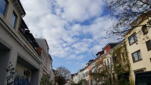 Herrliches Wetter heißt uns in der Hansestadt willkommen.