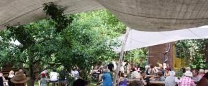 In einem Garten in Sallahn gibt es neben Kuchen und Limonade Musik auf die Ohren..