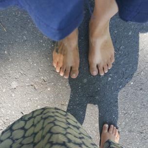 Große Füße, kleine Füße..