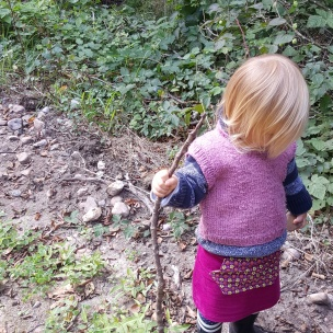 Ein Wanderstock für das Landkind.