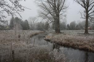 Die Gerdau scheint wie erstarrt, Väterchen Frost zieht durch die Lande..
